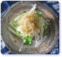 妊娠力アップ!セロリと大根とじゃこの豆腐サラダ
