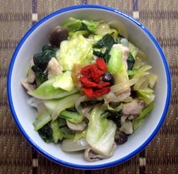 妊娠力アップ!黒酢でさっぱり野菜たっぷり丼